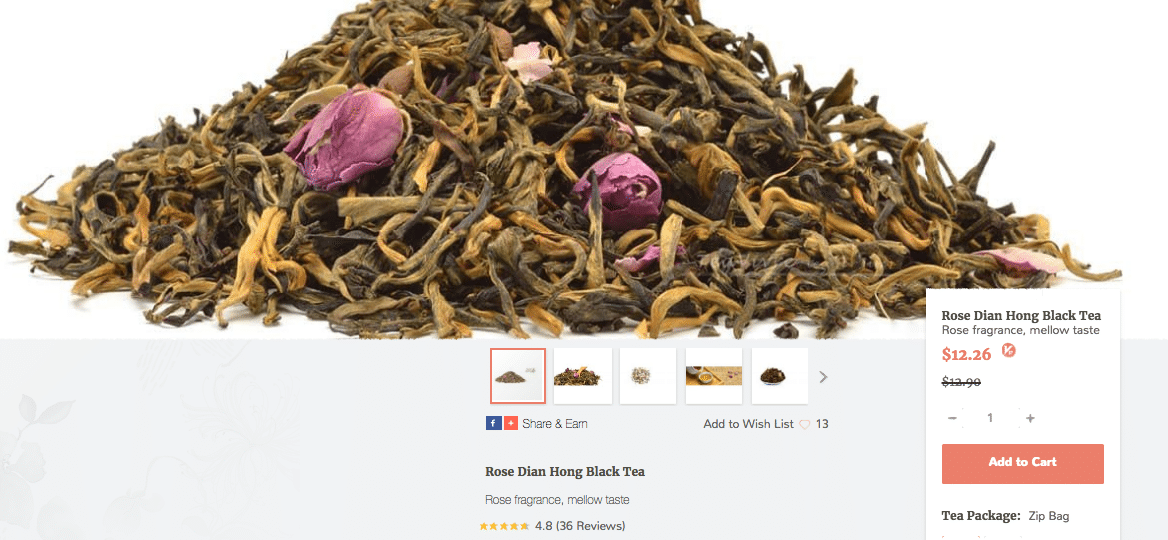 Rose Dian Hong Black Tea Teavivre