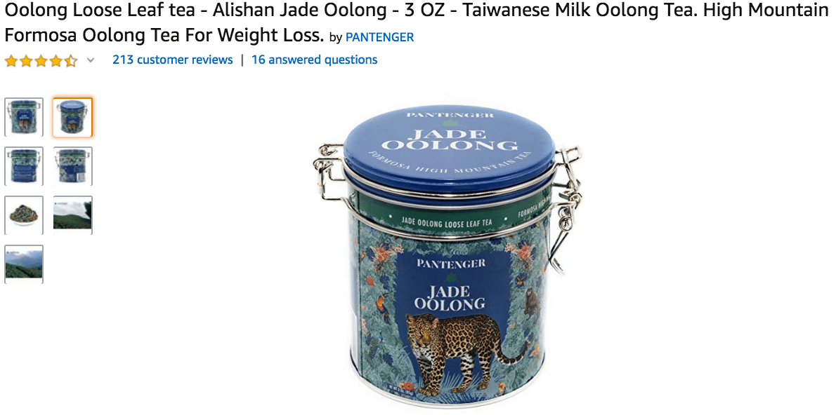 Oolong Loose Leaf Tea Alishan Jade Oolong Amazon